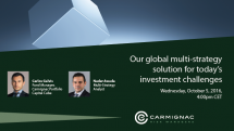 Web conference on our global multi-strategy solution for today's investment challenges.
